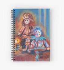 Teddy Bear and Dolls Spiral Notebook
