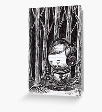 Listening to the Woods Greeting Card