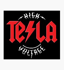 Nikola Tesla High Voltage Photographic Print