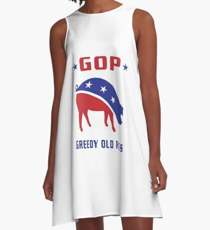 GOP Greedy Old Pigs A-Line Dress