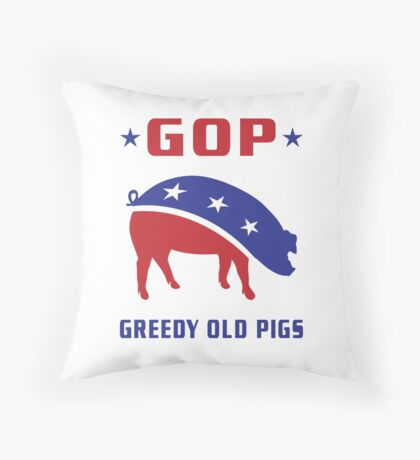 GOP Greedy Old Pigs Floor Pillow