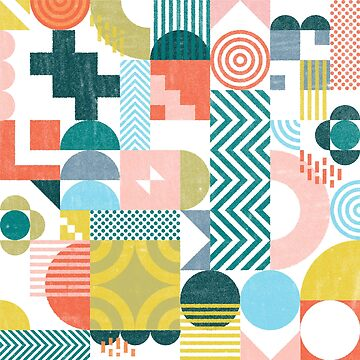 Geometric Abstract Pastel 01 by mightycloud