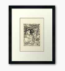 Eight illustrations to Shakespeare's Tempest by Walter Crane 1894 9 - Prospero by Accident of Most Strange Bountiful Fortune Framed Print