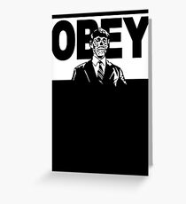 Obey Zombie Greeting Card