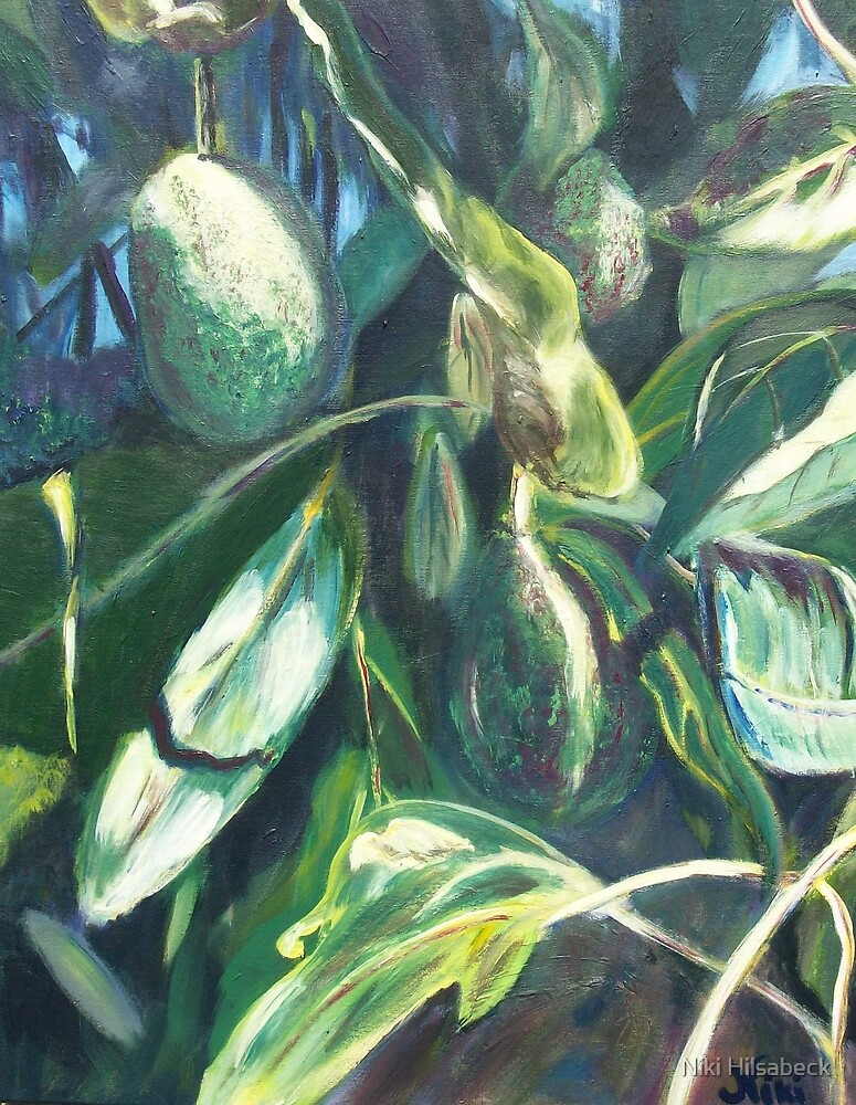 Avocado Lights (acrylic) by Niki Hilsabeck