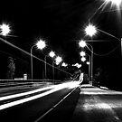 Light Trails B&W by GailD
