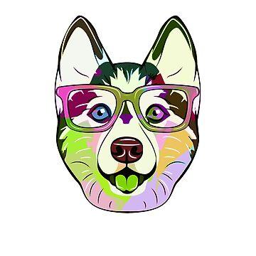 Siberian Husky Dog Art For Pet Lover by loveteens