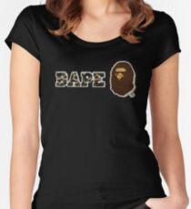 Camiseta entallada de cuello redondo el mono bañador