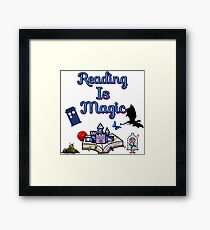 you never know where book will take you because Reading Is Magic Framed Print