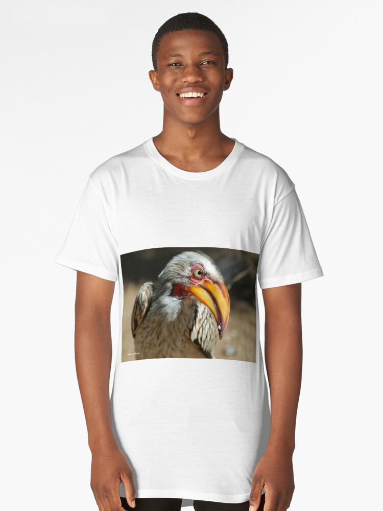 ARE YOU TALKING TO ME? - Southern Yellow-billed Hornbill - Tockus leucomelos - Geelbekneushoringvoel Long T-Shirt Front