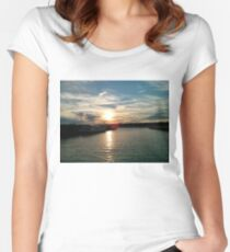 New York Sunset Women's Fitted Scoop T-Shirt