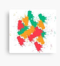 splash painting Canvas Print
