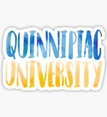 Quinnipiac Watercolor  Sticker