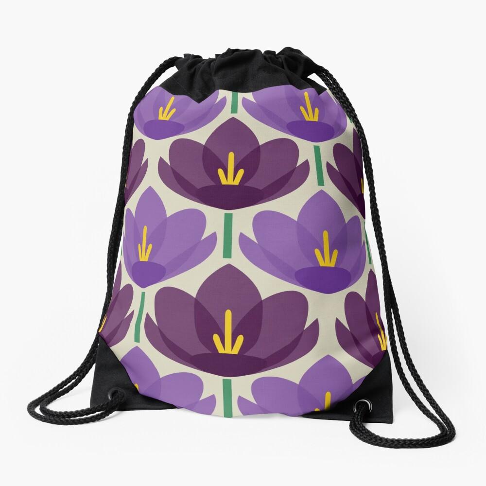 Krokus Blume Turnbeutel