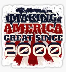 2000 Making America Great Patriotic US Born Birthday Sticker