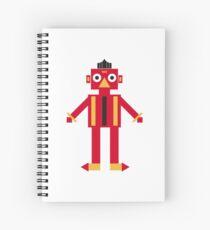 cartoon game robot Spiral Notebook