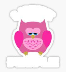 I Hate People - depressive Owl, Gift Sticker