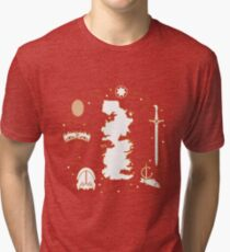 Symbols of the fantasy television series. Tri-blend T-Shirt