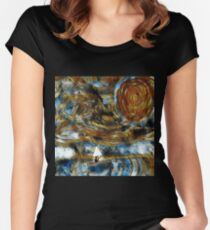Fury of the storm. Women's Fitted Scoop T-Shirt