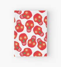 Pattern made of traditional Cinco de Mayo skull. Mexican Fiesta Cinco de Mayo  Party Invitation.  Hardcover Journal
