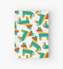 Pattern made of traditional Cinco de Mayo donkey. Mexican Fiesta Cinco de Mayo  Pinata  Party Invitation. Hardcover Journal