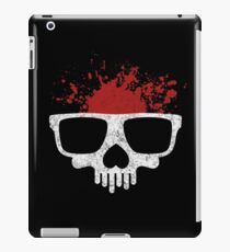 Nerdy skull for geeks iPad Case/Skin