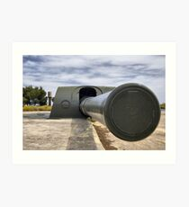 Vickers and Armstrong 38.1 cm gun, Bateria de Cenizas, Costa Calida, Spain Art Print