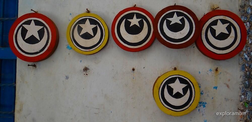 Old Lamu Town - Islamic discs by exploramum