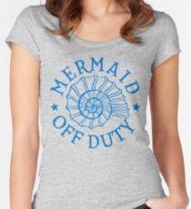 Mermaid Off Duty - blue Women's Fitted Scoop T-Shirt