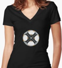 Penguin Football Women's Fitted V-Neck T-Shirt