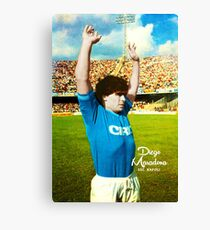 DIEGO MARADONA NAPOLI CALCIO ARGENTINA FOOTBALL SOCCER SUPER COOL POSTER Canvas Print