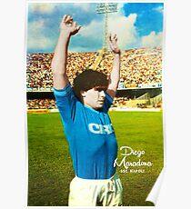 DIEGO MARADONA NAPOLI CALCIO ARGENTINIEN-FUßBALL-FUßBALL SUPER COOL POSTER Poster