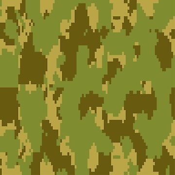 Army Camouflage Pixelated Pattern – Forest Green by poisondesign