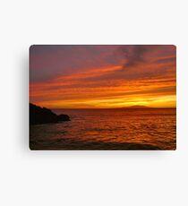 Fiery Makena Sunset Canvas Print