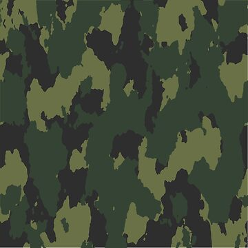 Army Camouflage Pattern –Forest Dark Green by poisondesign