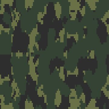 Army Camouflage Pixelated Pattern –Forest Dark Green by poisondesign