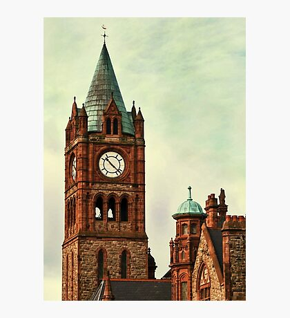 Derry Guildall - clock tower Photographic Print