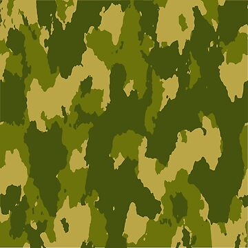 Army Camouflage Pattern – Jungle Green by poisondesign