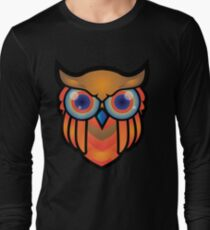 cool owls and cool design print  Long Sleeve T-Shirt