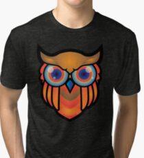 cool owls and cool design print  Tri-blend T-Shirt