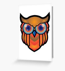 cool owls and cool design print  Greeting Card