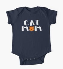 Super Cute Cat Mom One Piece - Short Sleeve