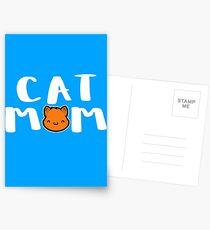 Super Cute Cat Mom Postcards