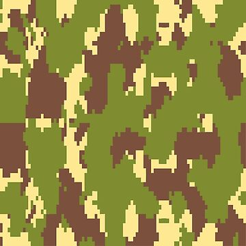 Army Camouflage Pixelated Pattern – Mountain Brownish by poisondesign