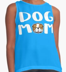Super Cute Dog Mom Contrast Tank