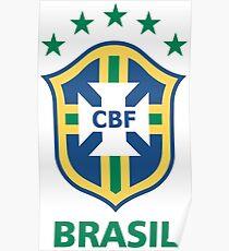 Brazil Football Poster