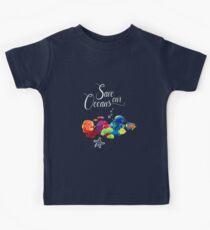 Save The Oceans. Colorful fishes / Rettet die Meere. Bunte Fische, Fischschwarm Kinder T-Shirt