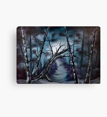"""The haunted forest"" oil painting.  Canvas Print"