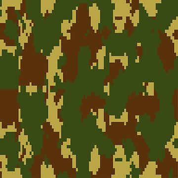 Army Camouflage Pixelated Pattern – Mountain Brownish 2 by poisondesign