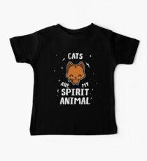 Cats Are My Spirit Animal Baby Tee